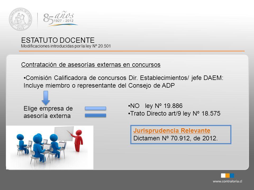 ESTATUTO DOCENTE Contratación de asesorías externas en concursos