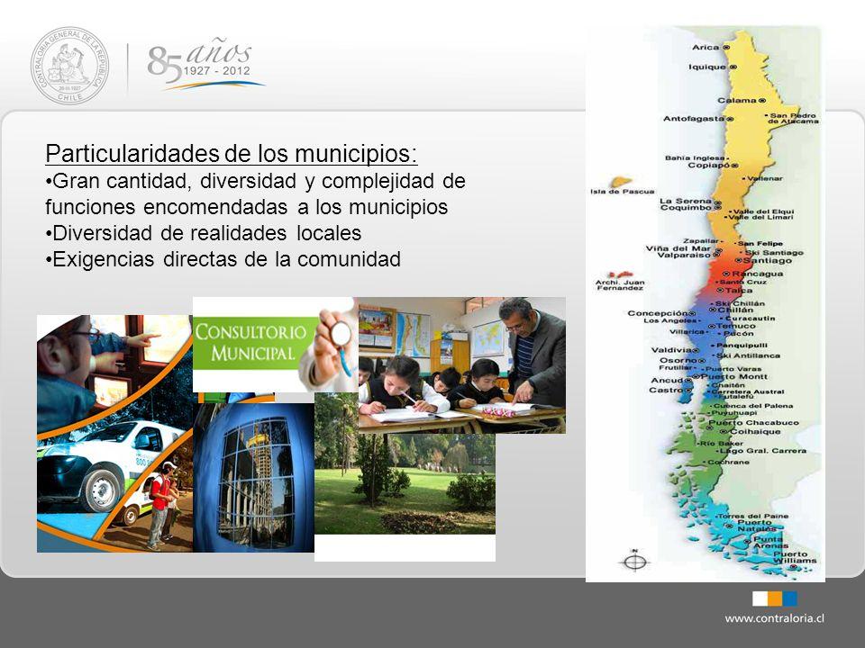 Particularidades de los municipios:
