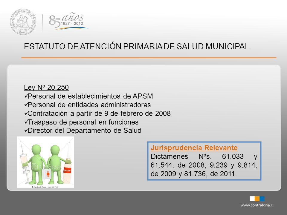 ESTATUTO DE ATENCIÓN PRIMARIA DE SALUD MUNICIPAL