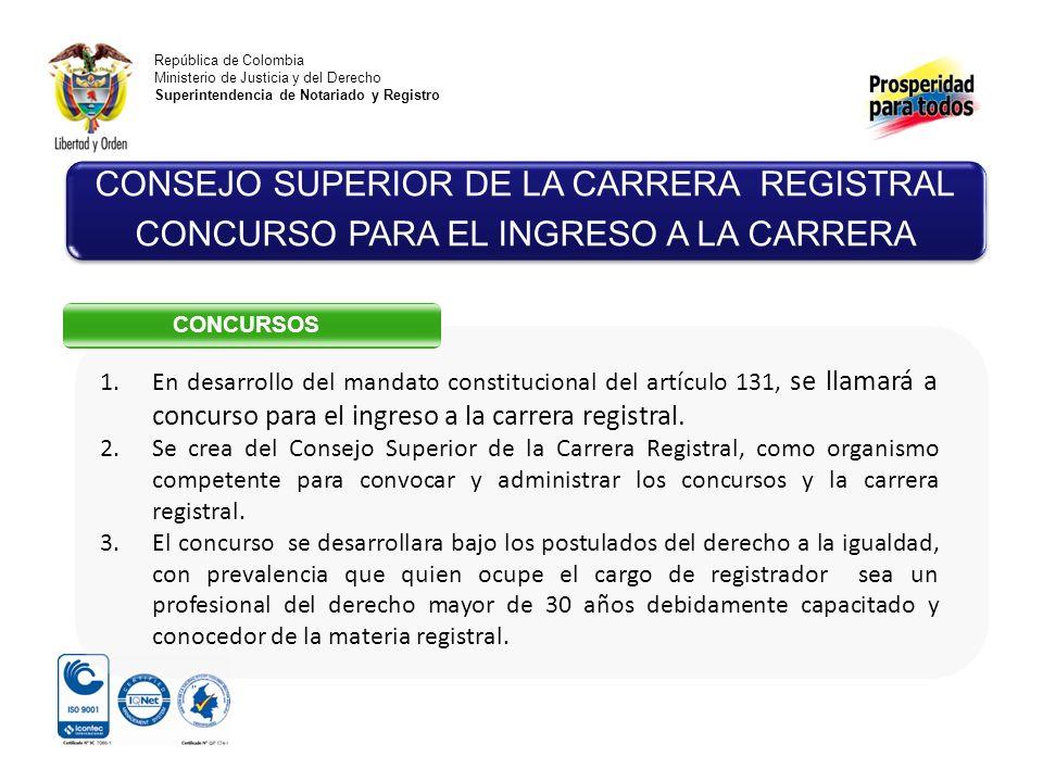 CONSEJO SUPERIOR DE LA CARRERA REGISTRAL