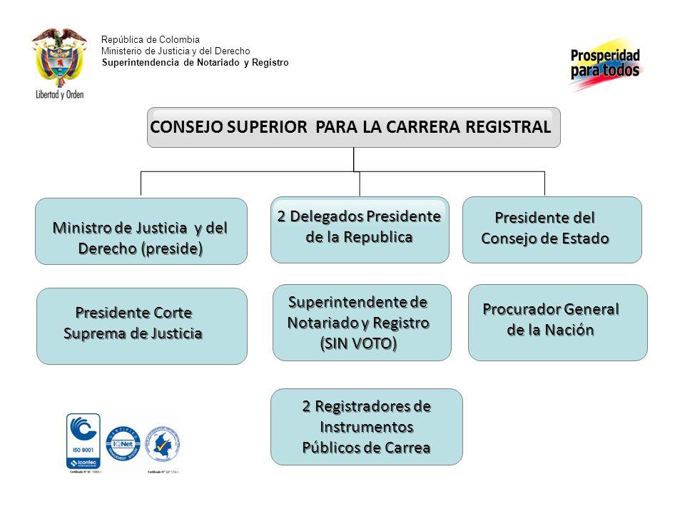 CONSEJO SUPERIOR PARA LA CARRERA REGISTRAL