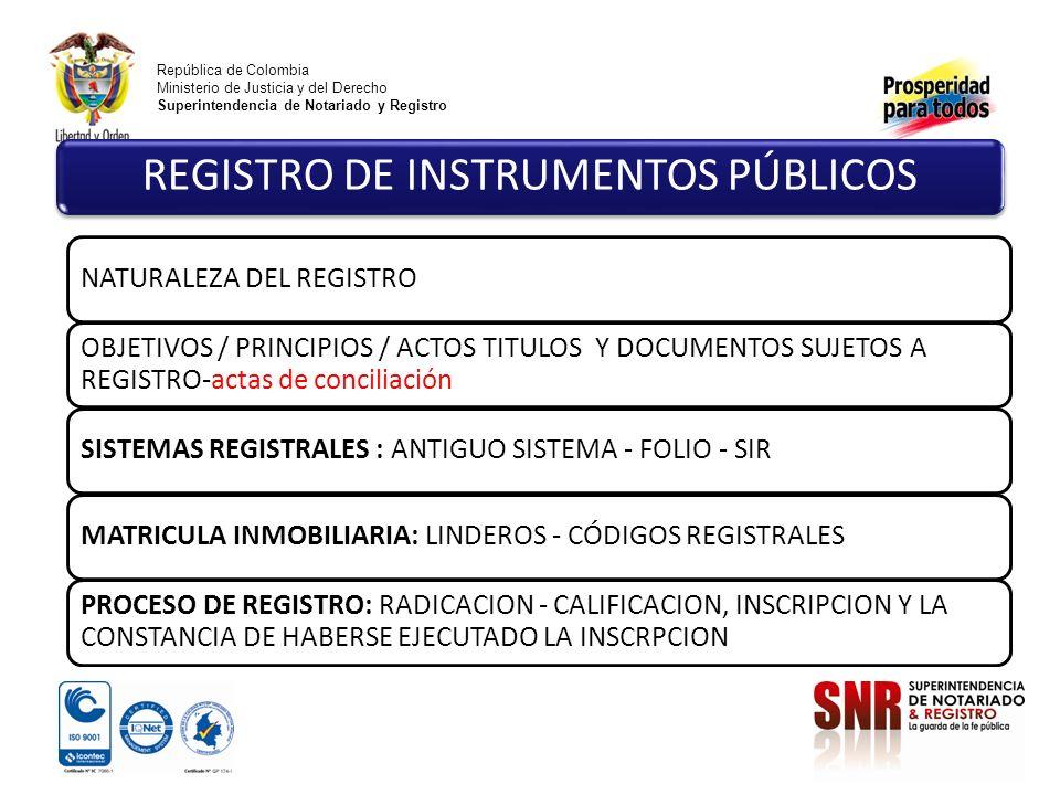 REGISTRO DE INSTRUMENTOS PÚBLICOS