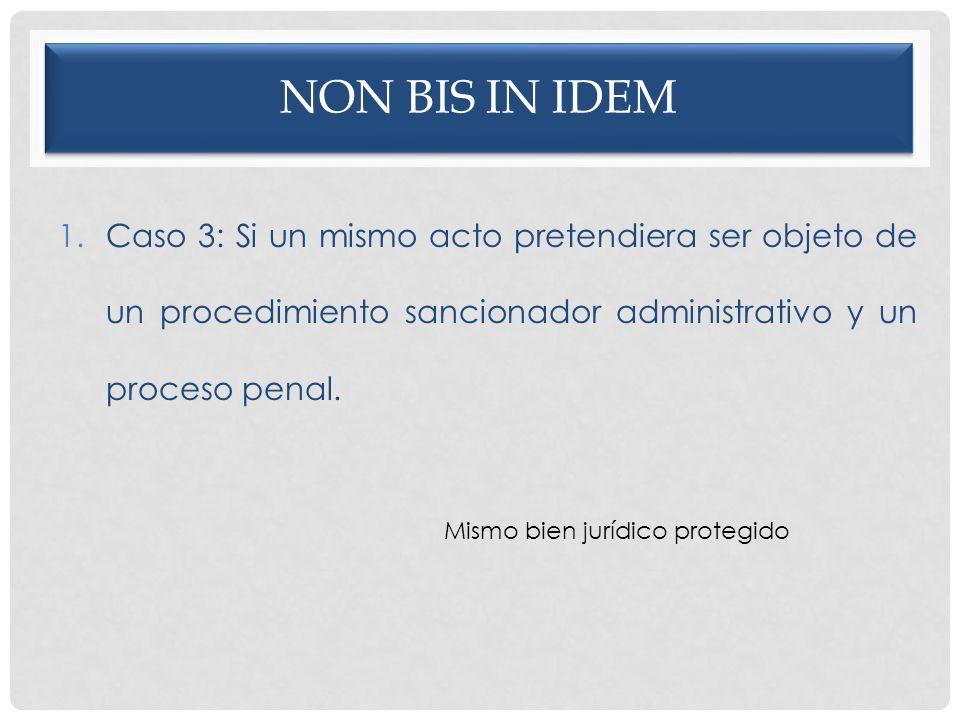 Non bis in idem Caso 3: Si un mismo acto pretendiera ser objeto de un procedimiento sancionador administrativo y un proceso penal.
