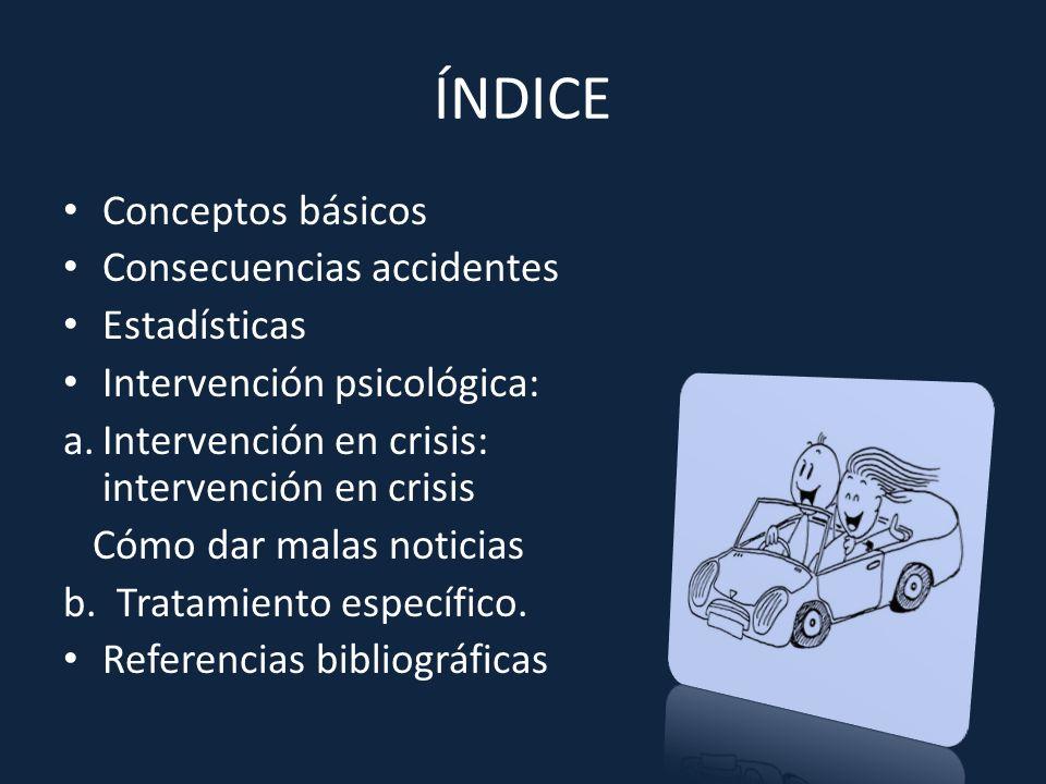 ÍNDICE Conceptos básicos Consecuencias accidentes Estadísticas