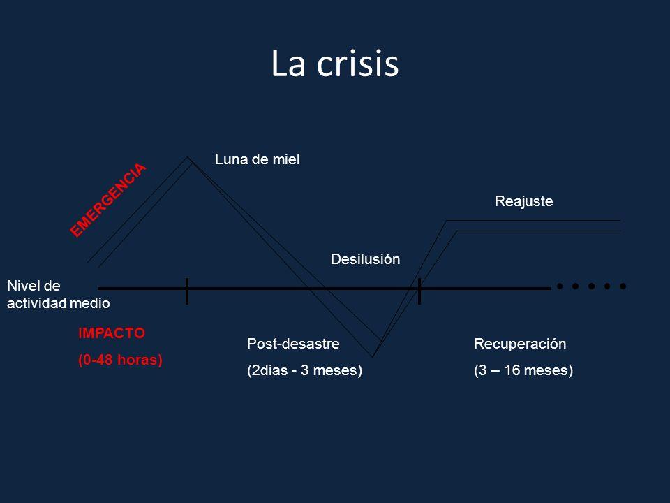 La crisis Luna de miel EMERGENCIA Reajuste Desilusión