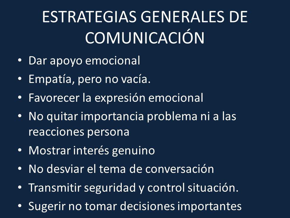ESTRATEGIAS GENERALES DE COMUNICACIÓN