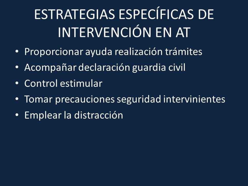 ESTRATEGIAS ESPECÍFICAS DE INTERVENCIÓN EN AT