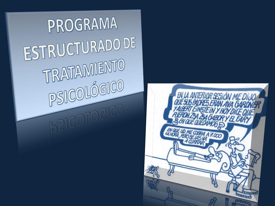 PROGRAMA ESTRUCTURADO DE TRATAMIENTO PSICOLÓGICO