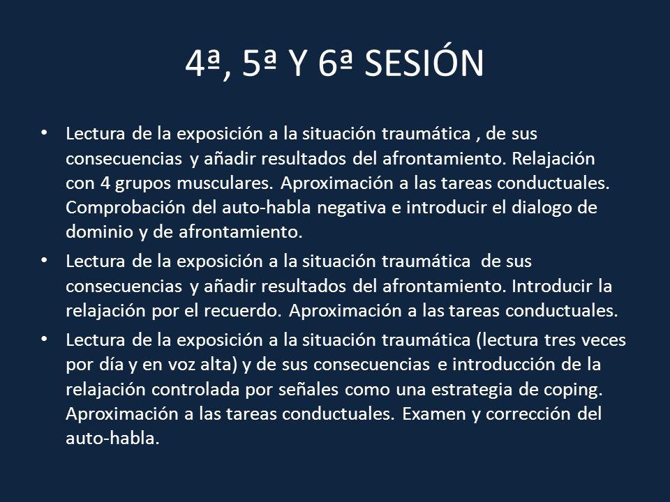 4ª, 5ª Y 6ª SESIÓN