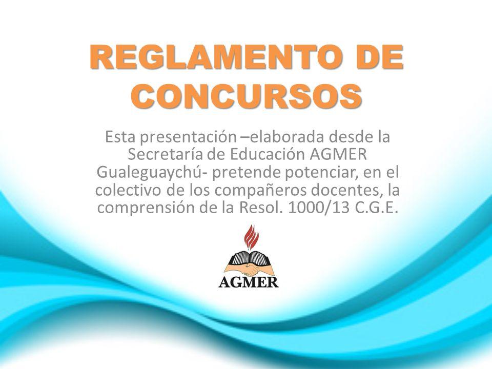 REGLAMENTO DE CONCURSOS
