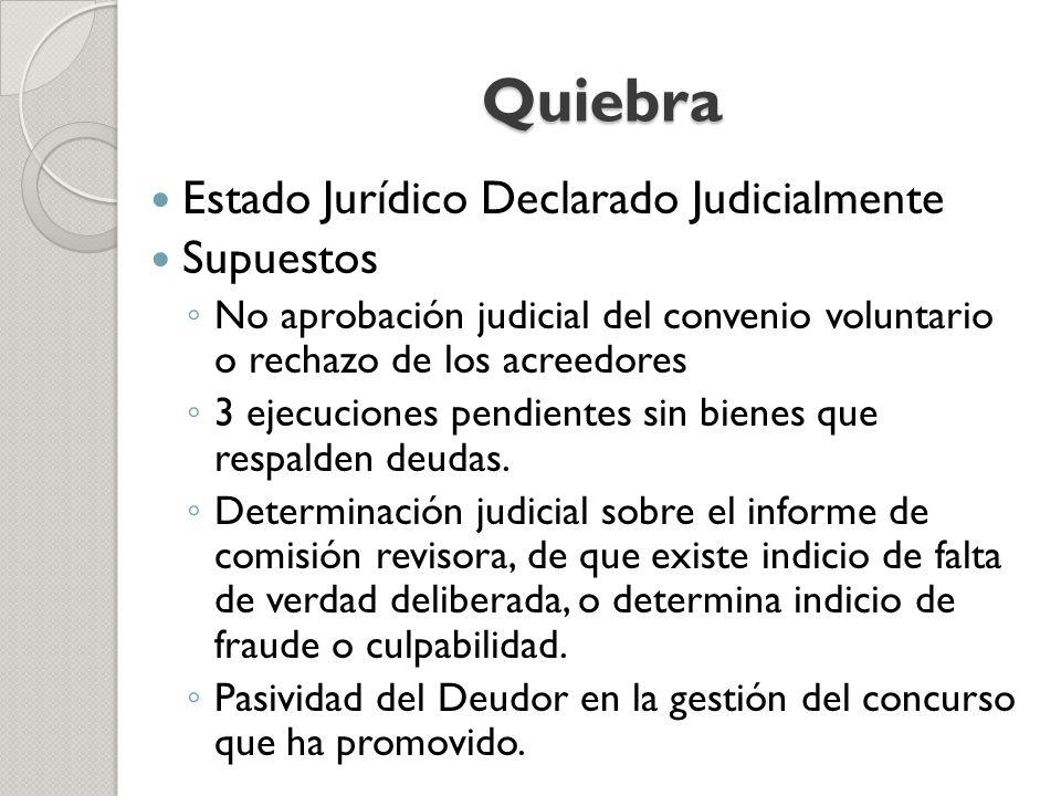 Quiebra Estado Jurídico Declarado Judicialmente Supuestos