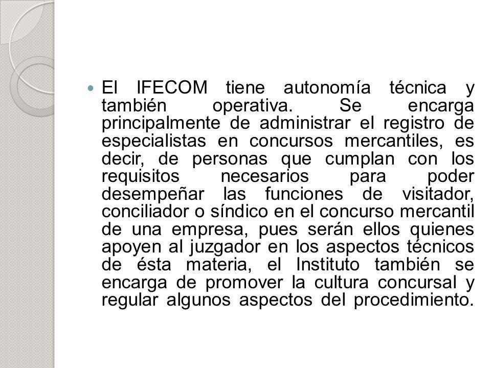 El IFECOM tiene autonomía técnica y también operativa