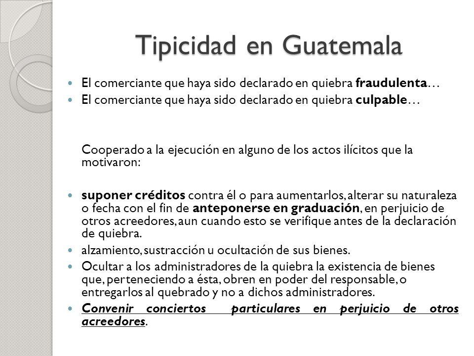 Tipicidad en Guatemala