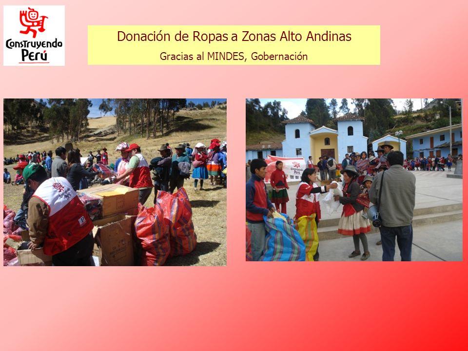 Donación de Ropas a Zonas Alto Andinas