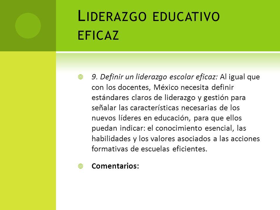 Liderazgo educativo eficaz