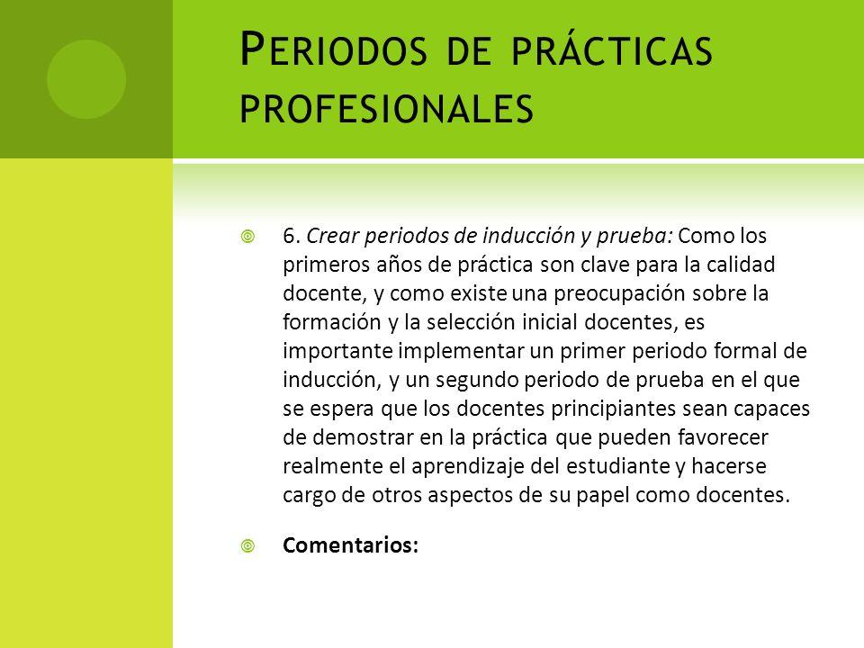 Periodos de prácticas profesionales