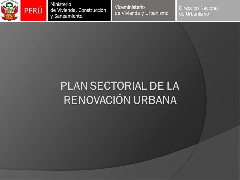 Plan sectorial de la renovación urbana