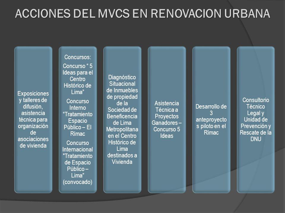 ACCIONES DEL MVCS EN RENOVACION URBANA