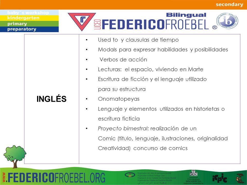 INGLÉS Used to y clausulas de tiempo