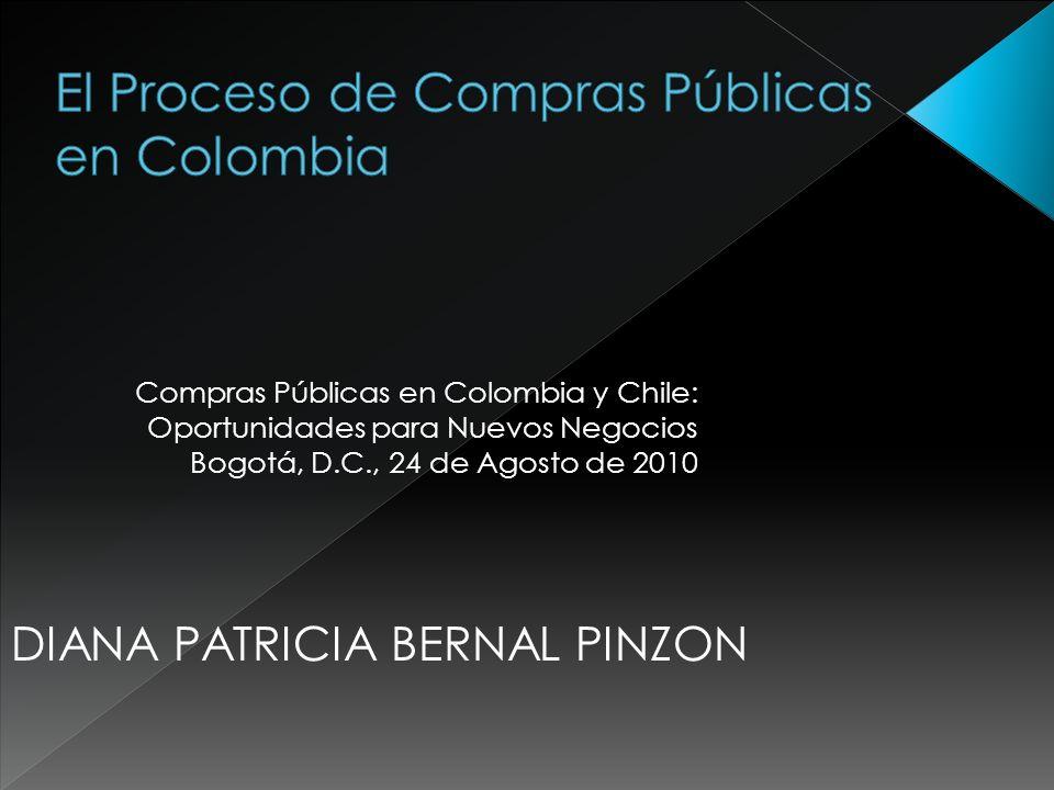 El Proceso de Compras Públicas en Colombia