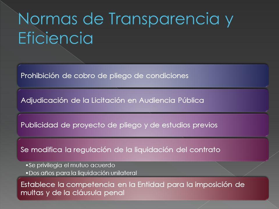 Normas de Transparencia y Eficiencia
