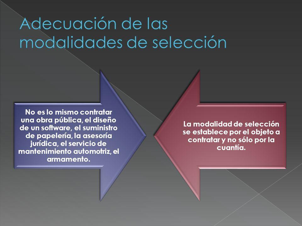 Adecuación de las modalidades de selección