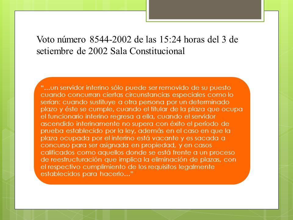 Voto número 8544-2002 de las 15:24 horas del 3 de setiembre de 2002 Sala Constitucional