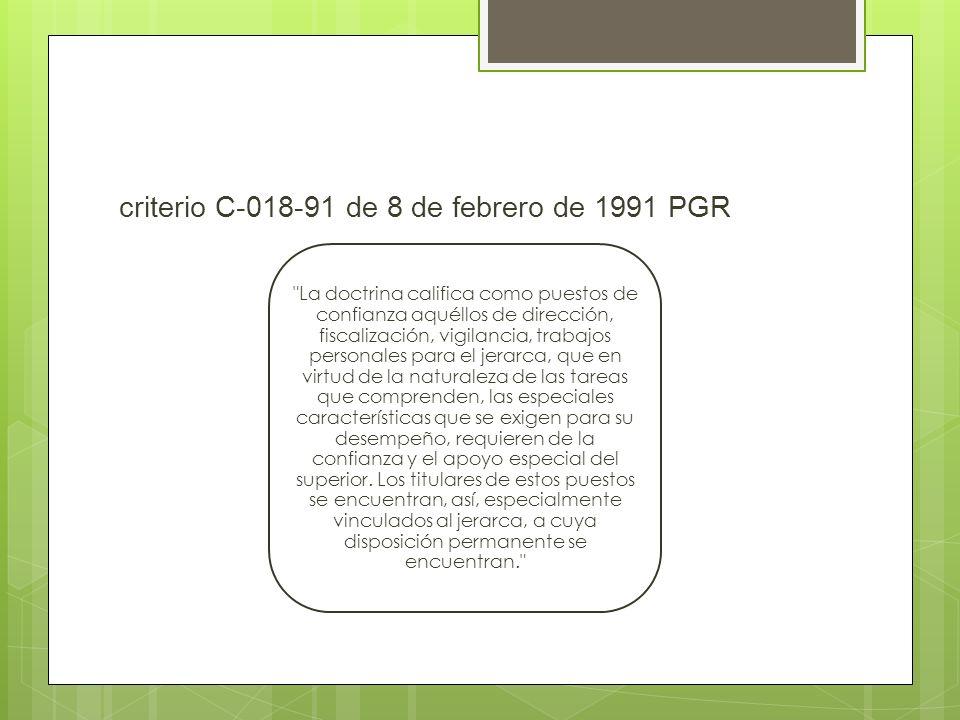 criterio C-018-91 de 8 de febrero de 1991 PGR