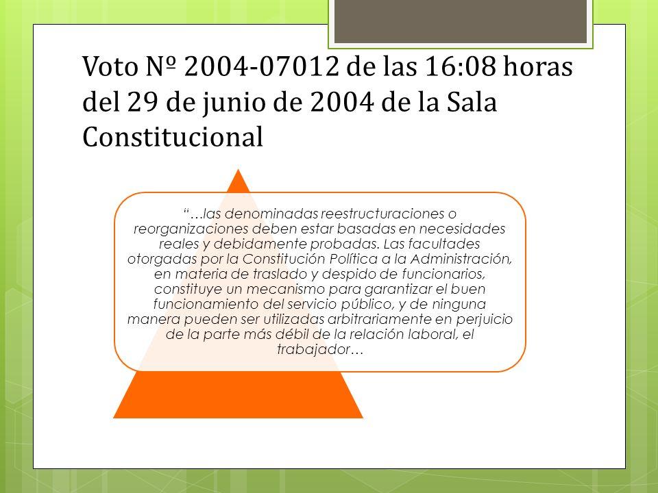 Voto Nº 2004-07012 de las 16:08 horas del 29 de junio de 2004 de la Sala Constitucional
