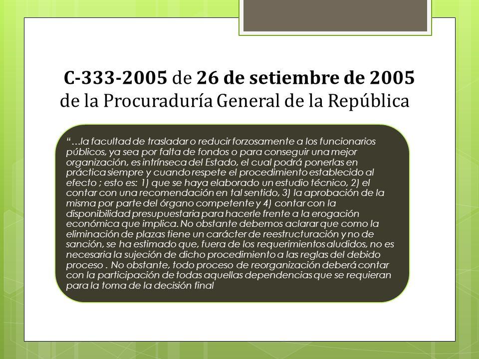C-333-2005 de 26 de setiembre de 2005 de la Procuraduría General de la República