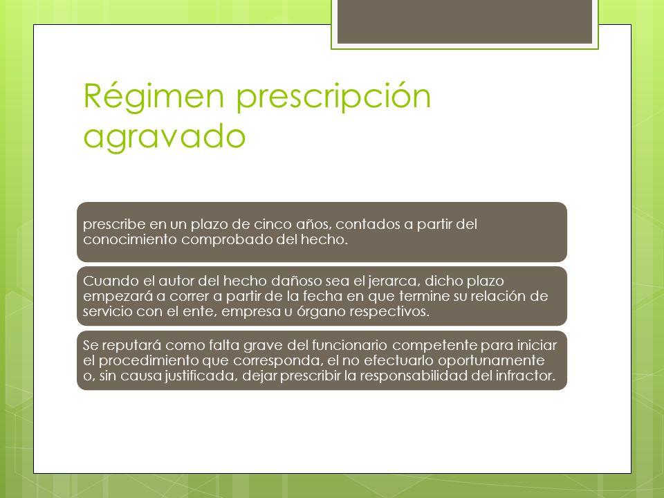 Régimen prescripción agravado