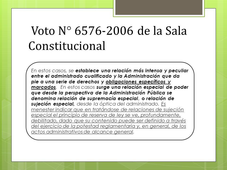 Voto N° 6576-2006 de la Sala Constitucional