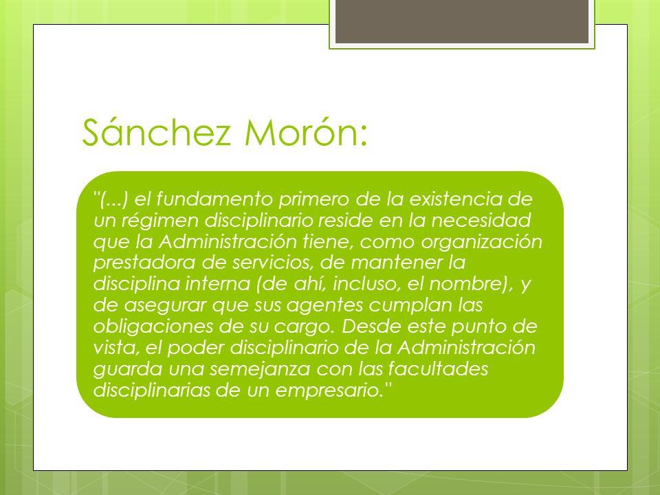Sánchez Morón: