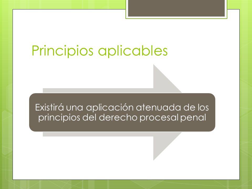 Principios aplicables