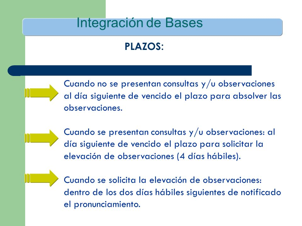 Integración de Bases PLAZOS: