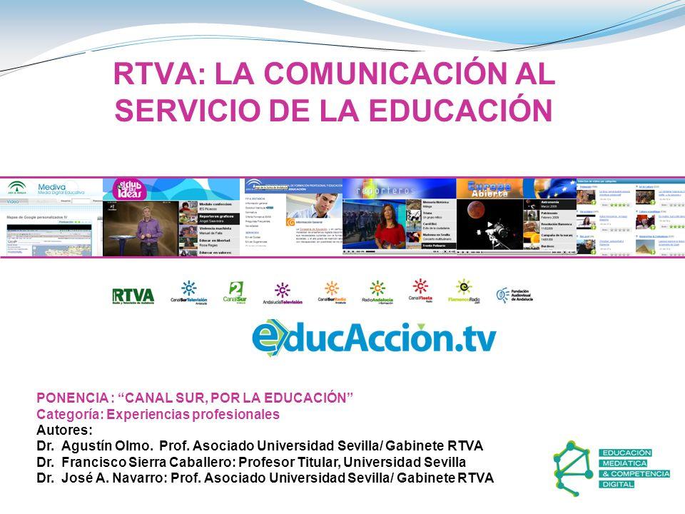 RTVA: LA COMUNICACIÓN AL SERVICIO DE LA EDUCACIÓN