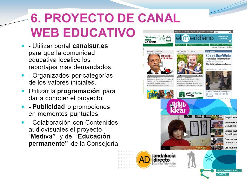 6. PROYECTO DE CANAL WEB EDUCATIVO