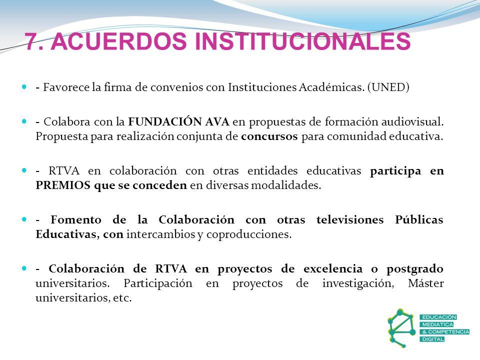 7. ACUERDOS INSTITUCIONALES