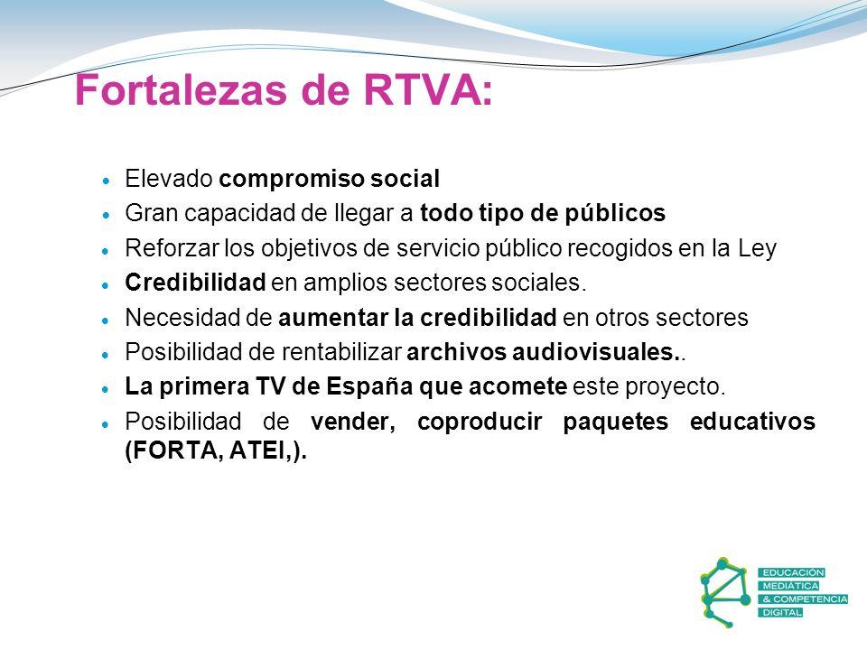 Fortalezas de RTVA: Elevado compromiso social