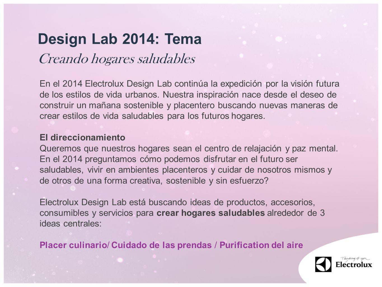 Design Lab 2014: Tema Creando hogares saludables