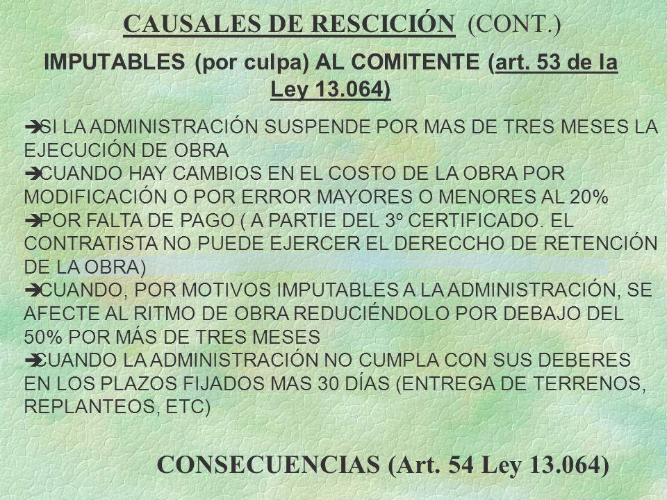 CAUSALES DE RESCICIÓN (CONT.)