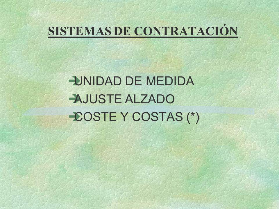 SISTEMAS DE CONTRATACIÓN