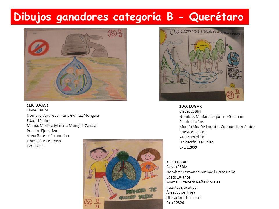 Dibujos ganadores categoría B - Querétaro