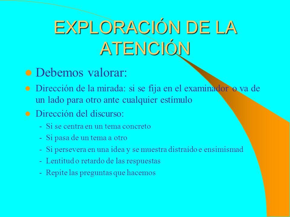 EXPLORACIÓN DE LA ATENCIÓN