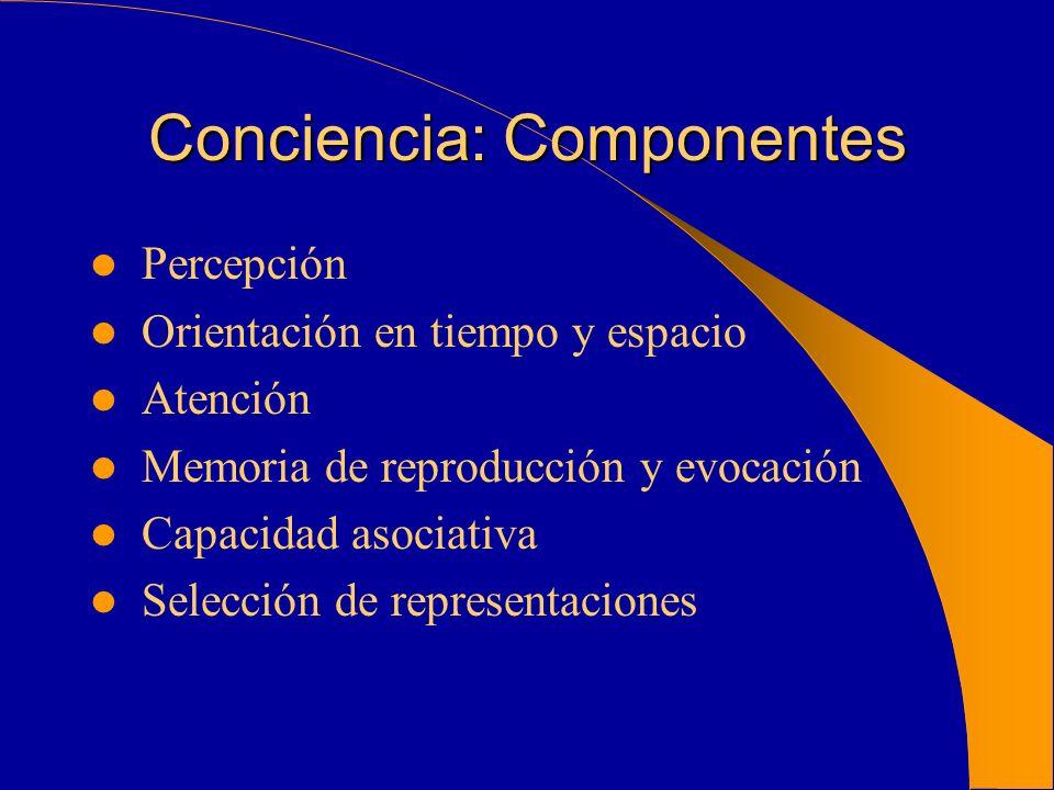 Conciencia: Componentes