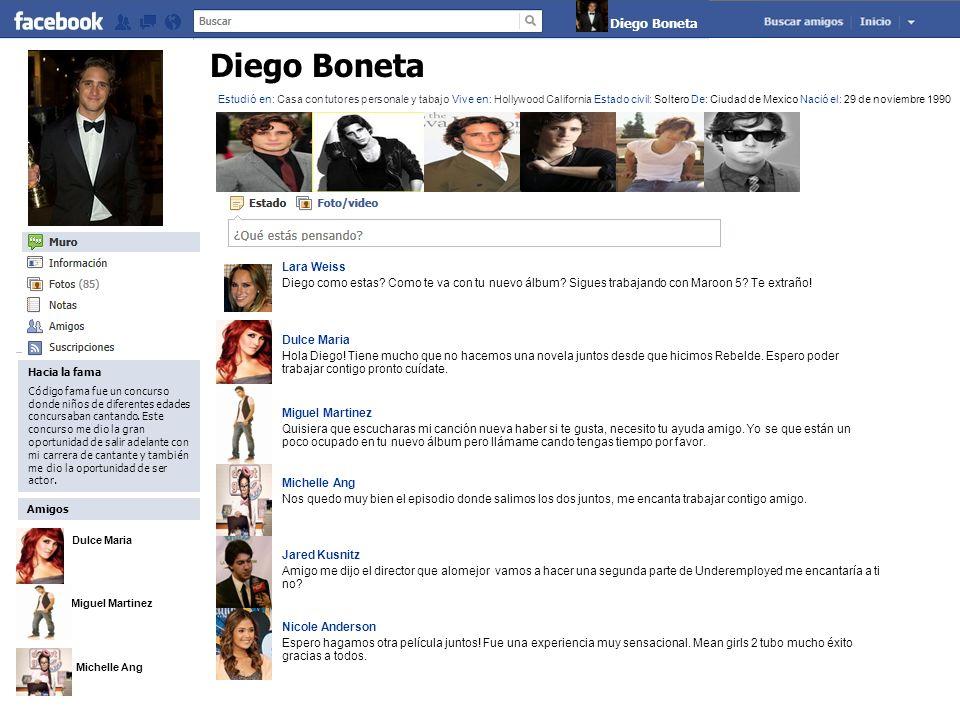 Diego Boneta Diego Boneta Lara Weiss