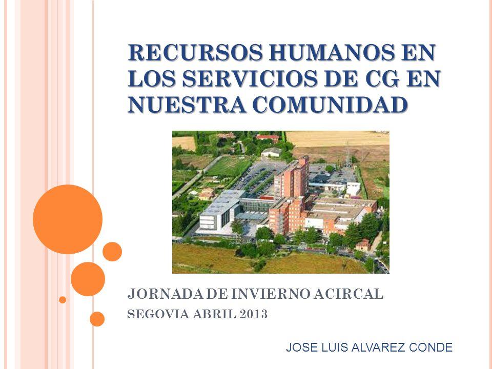 RECURSOS HUMANOS EN LOS SERVICIOS DE CG EN NUESTRA COMUNIDAD