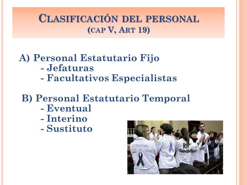 Clasificación del personal