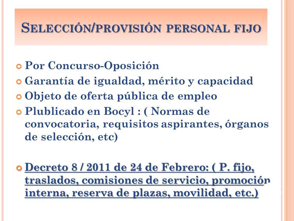 Selección/provisión personal fijo
