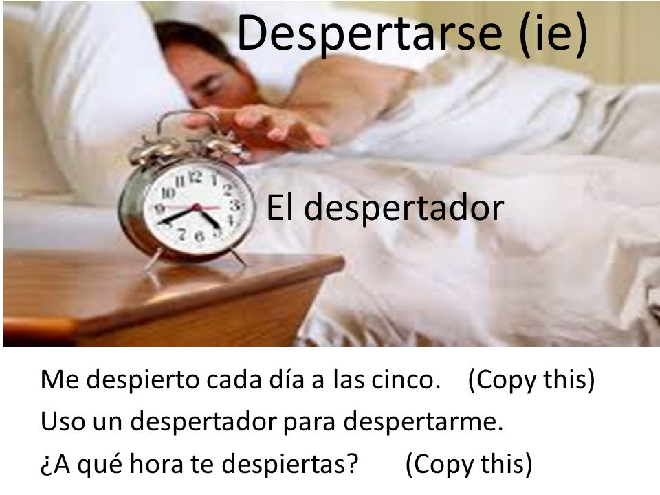 Despertarse (ie) El despertador